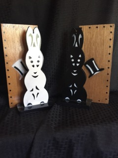 The Bunnies at he Beginning- White and Black