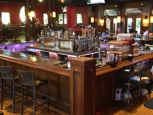 The bar at Ale House, where we compared two Scothes