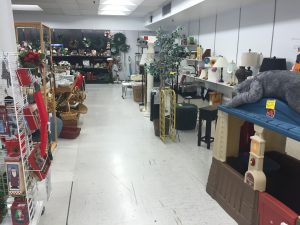 A view into the housewares section at The Encore Shoppe