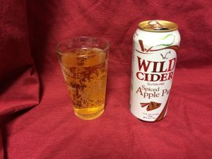 Wild Cider's Spiced Apple Pie Hard Cider looks pretty much like any other hard cider.
