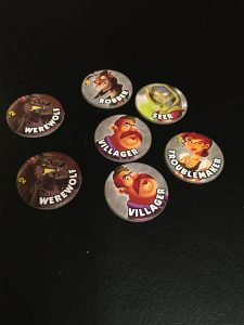 The character tokens show which characters are in play in a given game.  There are many to choose from.